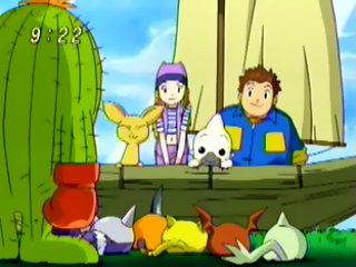 All of the Digimon from Primary Village wishes them a fond farewell