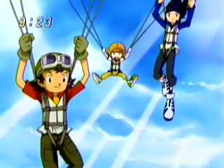 The other Digidestined parachute in